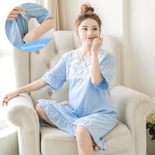 <b>PurAmor Big Size Maternity</b> Nursing Nightdress Summer for ...