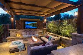 Can You Have A Fire Pit Under A Covered Patio How Safe Is It Outdoor Fire Pits Fireplaces Grills