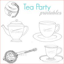 Tea Party Coloring Pages 87959 Free Tea Party Coloring Pages