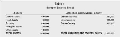 Balance Sheets Organization Examples Type Company Business