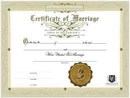 Fake Blank Marriage Certificate Template Free License Danielmelo Info