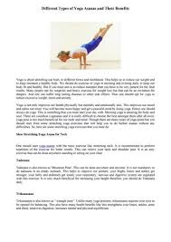 diffe types of yoga asanas and their benefits