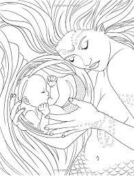 Cartoon Mermaid Coloring Pages The Series Cartoons Little Mermaid By