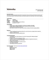download copywriter job description copywriter job description