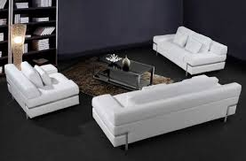 white leather furniture. Beautiful White Modern Furniture VIG 0725  White Leather Sofa Set On Furniture T