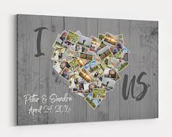 i love us photos of us collage canvas custom personalized wall art anniversary gift for couple on personalized photo collage wall art with i love us photos of us collage canvas custom personalized wall art
