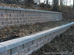 this homeowner chose agape retaining walls inc as their retaining wall contractor of choice the other contractors we competed against for this project