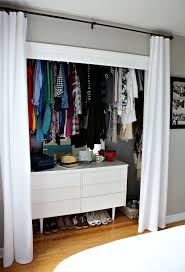 If you hang your closet's rod above eye level, you can slip in a sturdy
