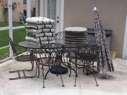 vintage lyon shaw wrought iron patio