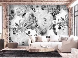 Fotobehang Sentimental Garden Black And White Andere Bloemen