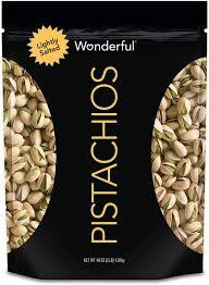 Wonderful Pistachios Roasted Lightly Salted 16 Oz Amazon Com Wonderful Pistachios Roasted Lightly Salted 48