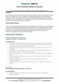 Experienced Software Engineer Resumes Lead Software Developer Sample Resume Podarki Co
