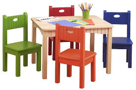 Kids Table And Chair Set Eiden Pro Regarding Childrens Plans 3 -