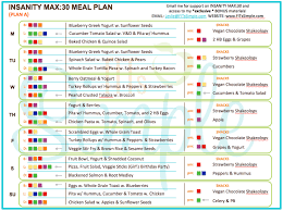printable insanity workout calendar insanity max 30 review all the dels you need