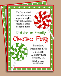 Christmas Party Invitation Card Template Merry Christmas