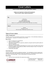 Cover Letters How To Write Effective Job Application Letters Do