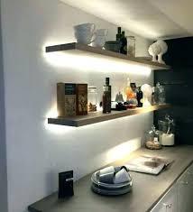 floating shelves with lights led floating shelves with lights strip lighting on exposed brick glass illuminated