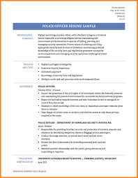 Police Officer Resume Samples Police Officer Resume Sample Monster Police Officer Resume Template 13