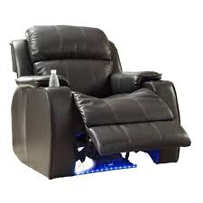 classic oversize and overstuffed single seat bonded leather recliner chair com
