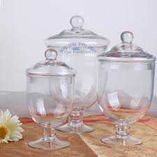 Decorative Glass Storage Jars A glass jar with lid decoration glass candy jars of transparent 2