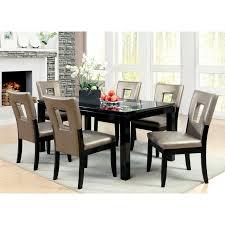7 piece black dining room set. Furniture Of America Vanderbilte 7-Piece Wood With Glass Inlay Dining Set - Black | Hayneedle 7 Piece Room
