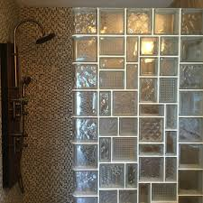 amazing glass block wall and brick trend what hot not today leaded looking shower with diffe pattern size for a unique design exterior interior in