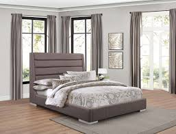 upholstered bed grey. Homelegance Fabriana Upholstered Bed - Grey T