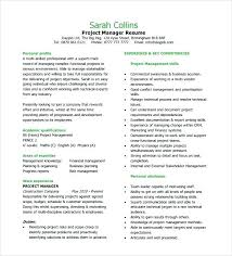 Project Manager Resume Templates Thrifdecorblog Com
