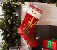 7 Cute Stockings for Kids ... Lifestyle & Pottery Barn Kids Reindeer Quilted Stocking Adamdwight.com