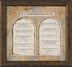 nice looking ten commandments wall art catholic cajun for kids pallet scroll