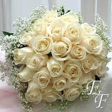 24 white rose bridal bouquet ef 722