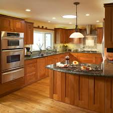 cherry kitchen cabinets with light countertops wood design m kitchen light wood cabinets design