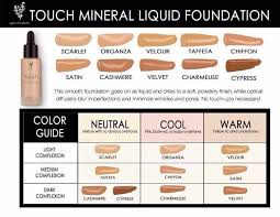Younique Touch Foundation Color Chart Younique Mineral Touch Liquid Foundation Color Matching Www