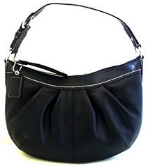 Coach Soho Medium Black Leather Pleated Hobo Bag - 13730