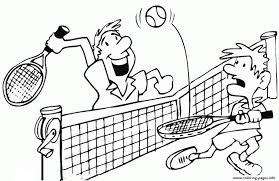 Print Fun Tennis S9a64 Coloring Pages Digital Coloring Pages