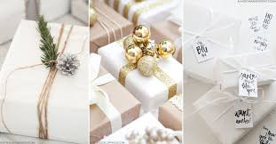 For the ultimate creative wrapping inspiration, from brown paper with  quaint candy canes to majestic marble festooned in foliage, update your  Christmas ...