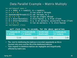 size of matrix matlab working with distributed arrays techweb boston university