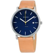 skagen hagen blue dial leather strap men s watch skw6279 for 81 for from a er on chrono24