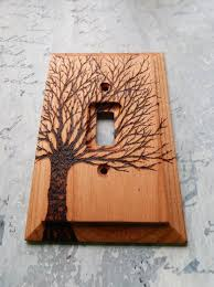 wooden switch plate covers surprise reserved for sam bare tree cover wood burned home design ideas