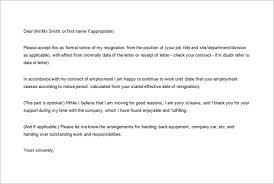 Formal Resignation Letter Effective Immediately Free Word