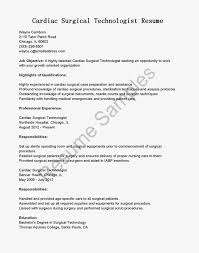 Resume Format For Technical Jobs Surgical Tech Resume Sample Nardellidesign 33