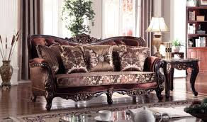 Traditional Furniture Living Room 685 Lyon Traditional Living Room Set In Rich Cherry By Meridian