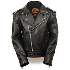 lkk1920 black uni children s biker jacket w patch pocket styling