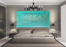 Small Picture Turquoise painting Minimalist painting Print Wall Art