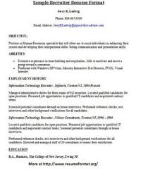 ... Tips On Writing Resume 17 For More Sample Resumes Of Recruiters Visit  Www.resumeformat.