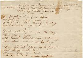 this teenth a newly uncovered poem on slavery by a slave jupiter hammon an 18th century slave wrote an essay on slavery in