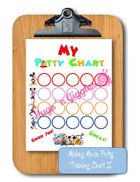 Mickey Mouse Clubhouse Inspired Potty Training Chart Ii