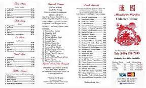 menu of mandarin garden in alpena mi 49707