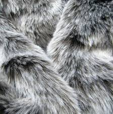 gray faux fur rug winter wolf dark chocolate pile synthetic faux fur fabric with frosted tip
