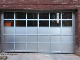 gl garage door with uneven slope